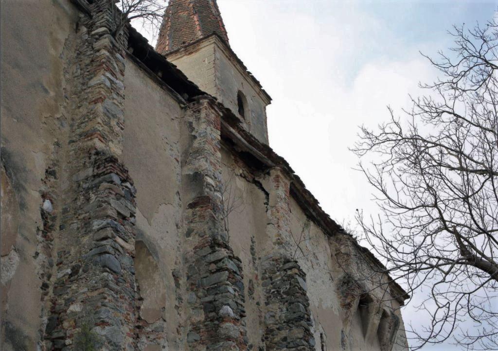 Nordfassade der Kirchenburg von Dobring