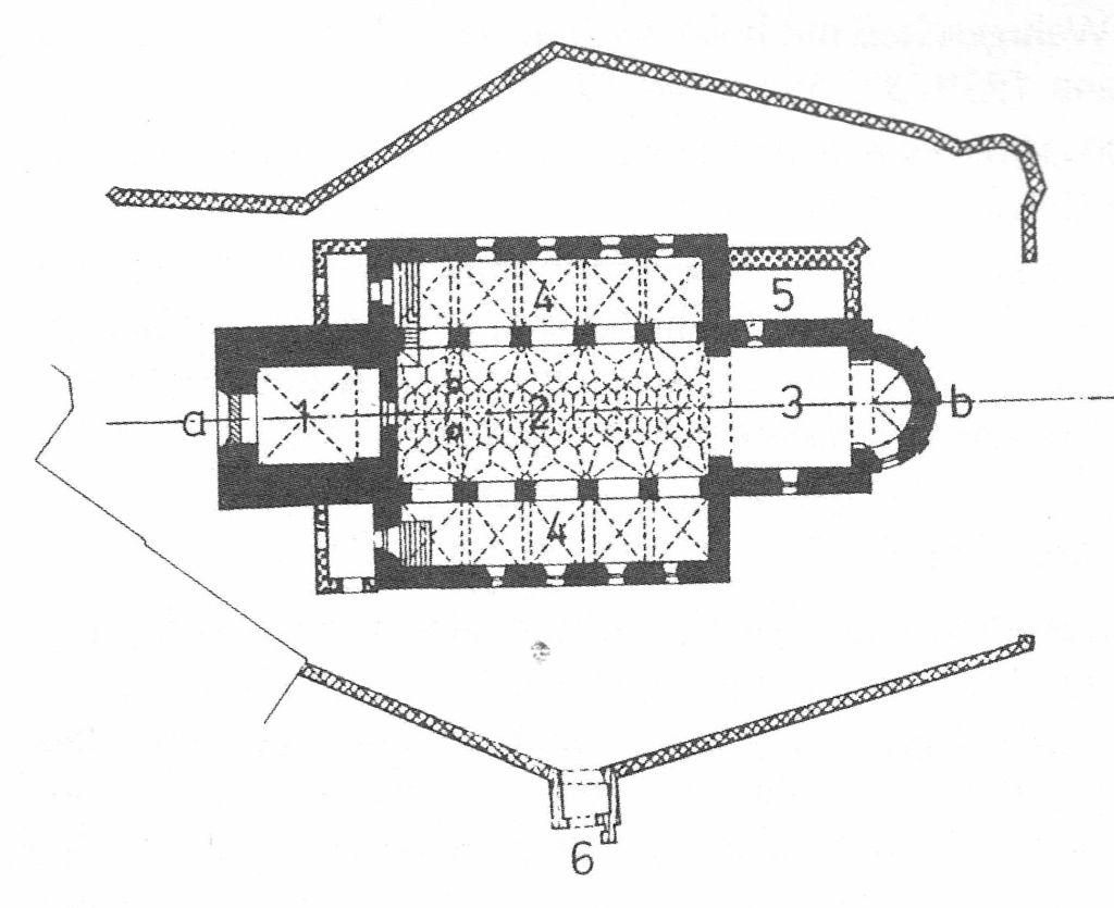 Grundriss der Kirchenburg in Neudorf bei Hermannstadt